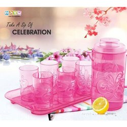 Mayo Pink Plastic Water Jug Set