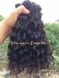 Deep Curly Human Hair Weft