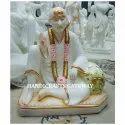 Handicrafts Gateway Marble Dwarkamai Sai Baba Statue, Size: 12