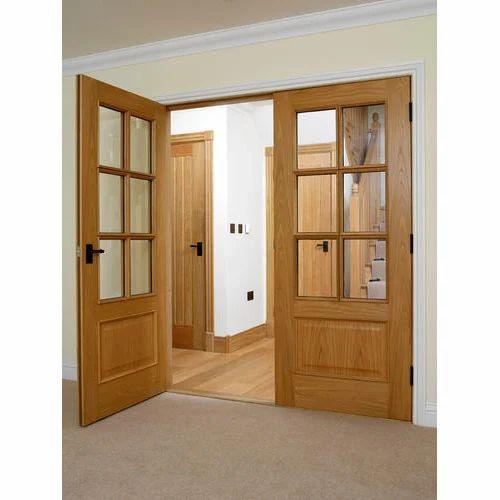 Swing Wooden Glass Door