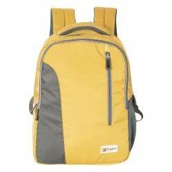 Yellow Grey School Bag