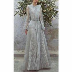 Ladies Fancy Round Neck Maxi Dress