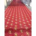 Rectangular Red Printed Floor Carpet, Size: 5 X 8 Feet