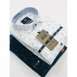90 ML Cotton Mens Party Wear Printed Shirt