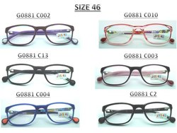 Acetate Glass Kids Plastic Spectacle Frame, Packaging Type: Box