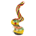 Glass Smoking Bubbler Collectibles Rasta Bubbler 8 Inch