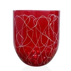 7267 Red Glass Vase