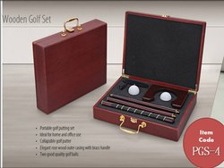 Golf Set Wooden Box
