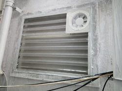 Toilet Louvers with Exhaust Fan, Size: 24*24