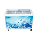 Haier 376 Ltrs Flat Glass Top Freezer Hcf-410fghc, 1200x700x680 Mm