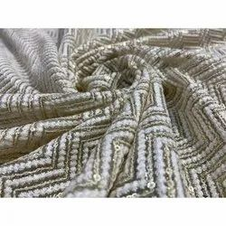Allover Embroidery Georgette Fabric, for Garments
