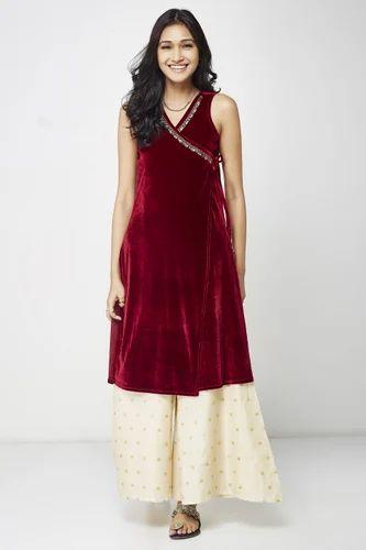 86aec85f064 Aayat Velvet Wrap Dress at Rs 5999 /piece | महिलाओं की ...