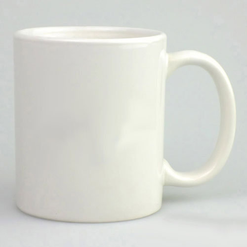 White Chini Mitti Plain Sublimation Mug