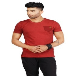 Men Casual T Shirt, Color: Red