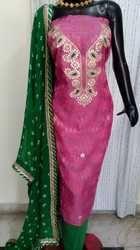 Ethnic Chanderi Gota Patti Suit