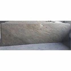 Polished Finish Beige Travertine Granite Slab, for Flooring, Thickness: 18 mm