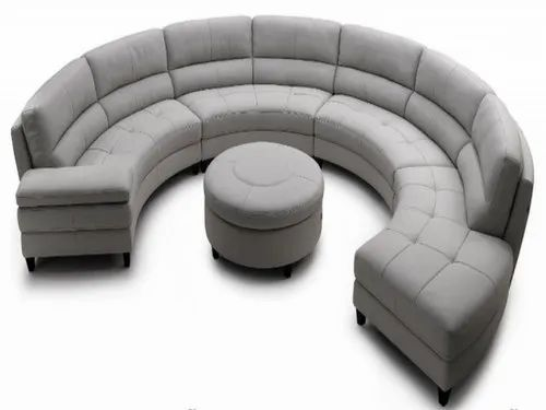 Dk Rexin Round Shaped Sofa Set Hall