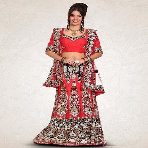 644342e9b409 All Sizes Georgette Stylish Bridal Lehenga On Rent, Rs 7500 /piece ...