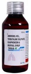 Ambroxol, Terbutaline, Guaiphenesin & Menthol Cough Syrup