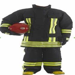 蓝色凯夫拉反光消防服
