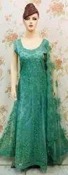 Women Georgette Embroidery Work Net Anarkali Suits