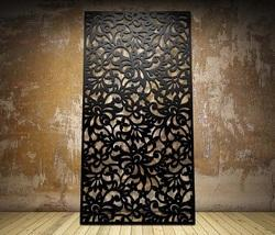 Floral Botanical Laser Cut Metal Screens and Sheet Boards