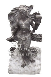 Black Marble Lady Statue