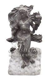 Marble Apsara Lady Statue