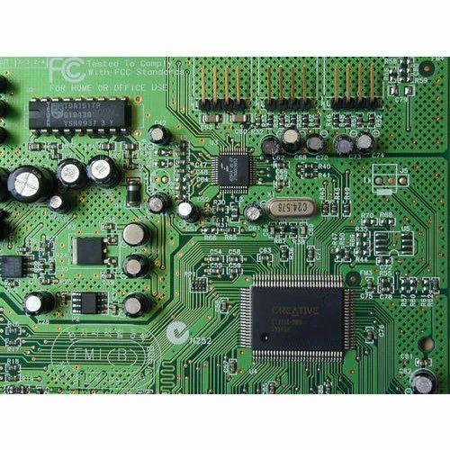 fiberglass or plastic electric circuit board