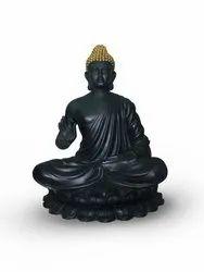 Gautam Buddha Sitting Pose Black
