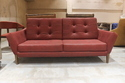 Buyerfox Modern Red Earthen Sofa