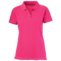Ladies Collar Neck Customized Promotional T-Shirt