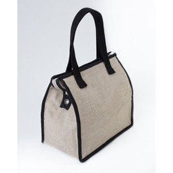 Plain Jute Lunch Bag, For School And Offices