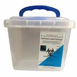 Sharp Needle Glass Safe Medical Waste Container 6 Litre for Hospitals