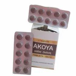 Akoya Tablets, Anoopam Ayurvedic Pharmacy, Non prescription