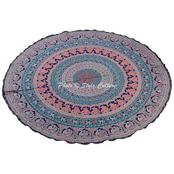 Indian Beach Round Towel