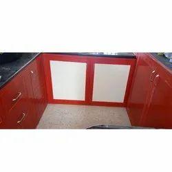 PVC Modern U Shaped Modular Kitchen, Warranty: 1-5 Years