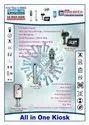 Temperature Cum Visitor Display Sanitizer Dispenser Kiosk Covid19