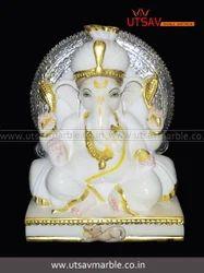 Utsav Pooja Marble Lord Ganesha Idol
