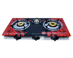 Automatic Burner Gas Stove with Marble Printed