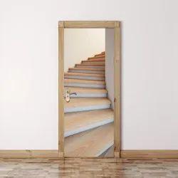 Dark Brown PVC Door