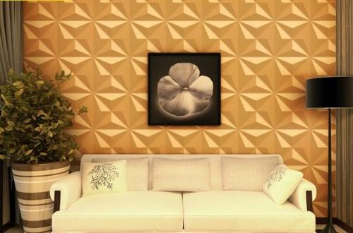 White 3D PVC Wall Panel for Decoration