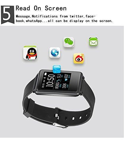 Opta SB-005 Large Screen Bluetooth Heart Rate Sensor Smart Band And Fitness  Tracker compatible with