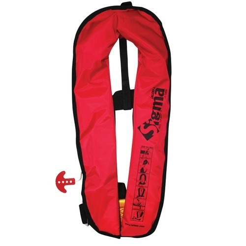 Red Lalizas Inflatable Life Jacket Sigma 150N