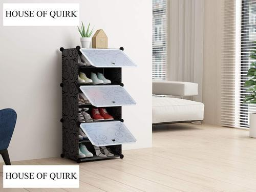 6 Layer Portable Shoe Storage Organizer Tower By House Of Quirk Odular Cabinet For E Saving