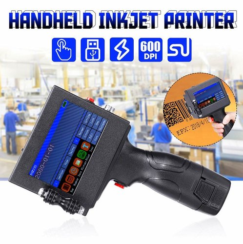 Posprint Portable Handheld Intelligent Inkjet Batch Coding Machine and LED  Touch Screen Display