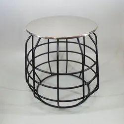 Metal Center Table, Size: 46x46x48 Cm