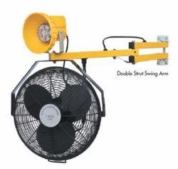 LED Dock Door Light With Fan