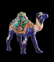 Hand-Carved Camel Statue