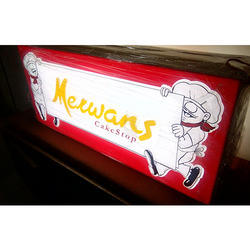 Menu Signage Glow Sign Board